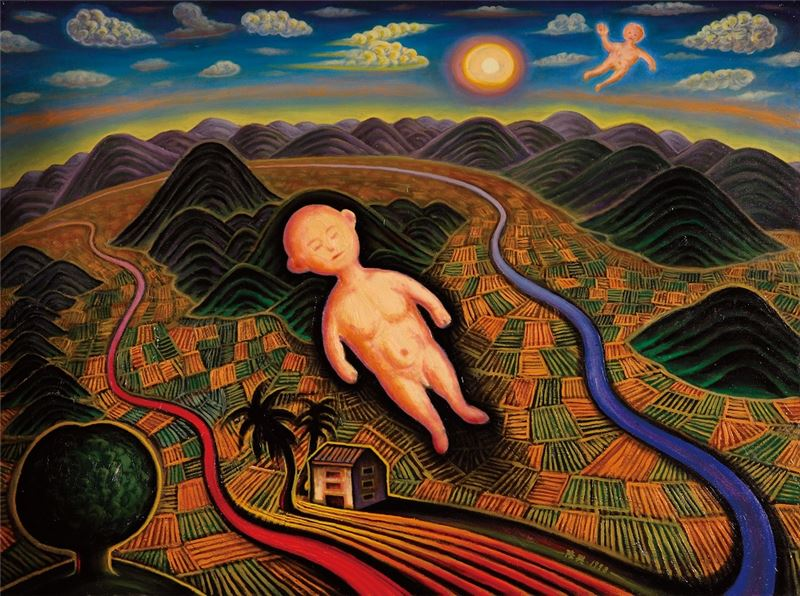 CHEN Long-Sing〈Son of the Great Earth〉1999 Oil on canvas 97×130 cm