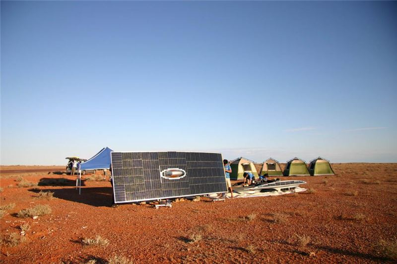 """Later, they even participate in the """"World Solar Challenge"""" (WSC) in Australia, driving across the continent, overtaking rivals from the US and Japan, and in the end gloriously taking fifth place."""