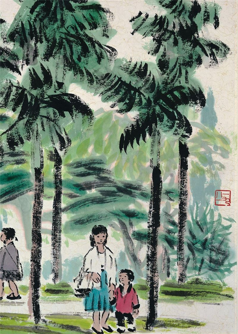 Cheng Shan-hsi〈The Morning Scenery in Spring〉Detail