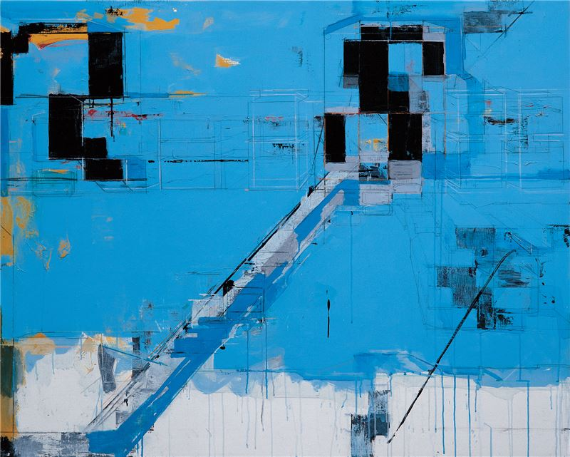 CHEN Chien-Jung〈Sky Blue XIII〉2008 Acrylic on canvas, mixed media 130×162 cm