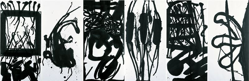 CHEN Shing-wan〈Impressions of Germany:  from Gorecki-Henryk's Symphony No.3〉 1999  Ink on paper  137.5×417 cm