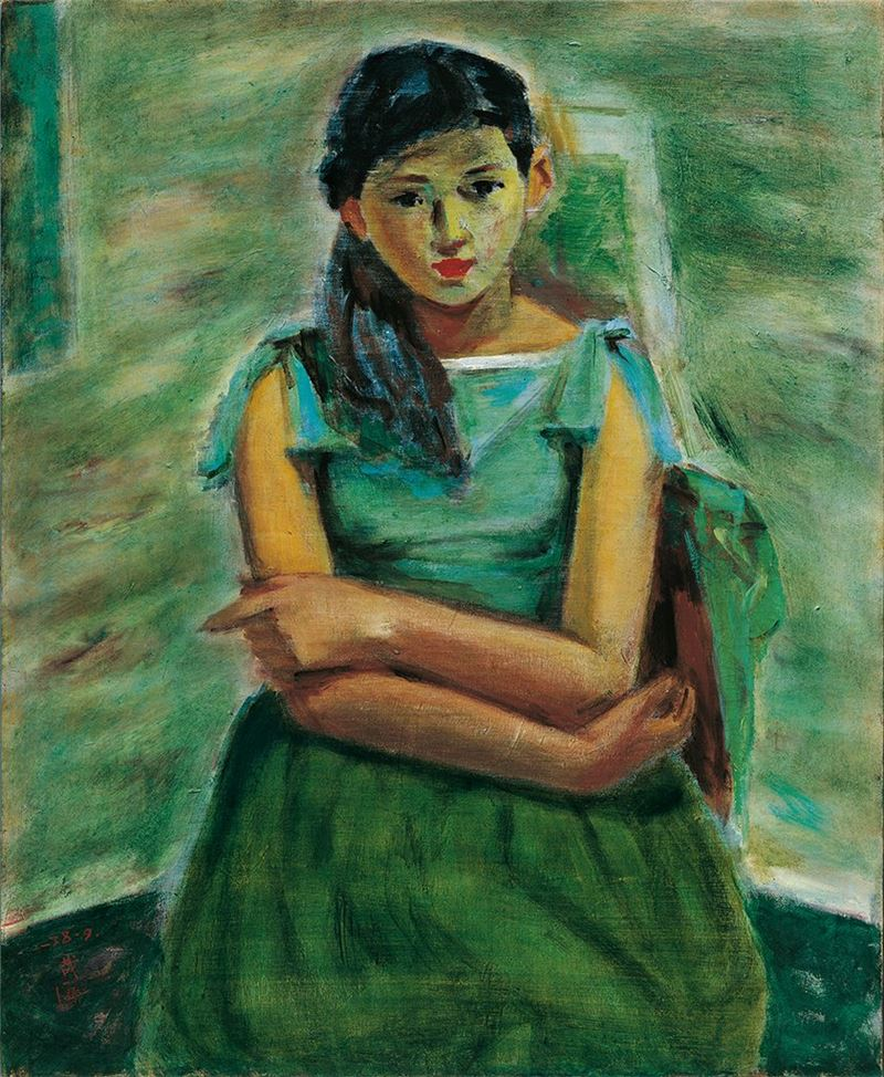 SHEN Che-tsai〈Human Figure〉1949  Oil on canvas  80.4×65.5 cm