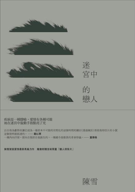"""Front cover, Chen Xue's The Lovers in the Maze, winner of the 2013 Taipei International Book Exhibition's """"Book of the Year Award"""" for fiction (Source: INK Literary Monthly Publishing Co., Ltd.)"""
