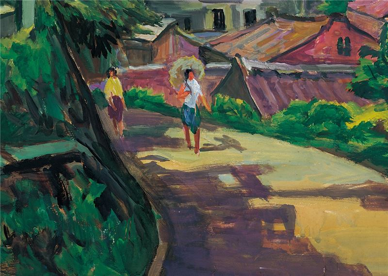 YANG Chi-tong〈A Scene of Tamsui〉Detail