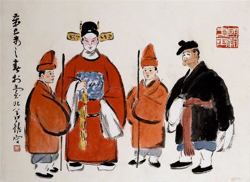 Cheng Shan-hsi〈Characters from Chinese Opera〉1979 Ink on paper 49×67 cm