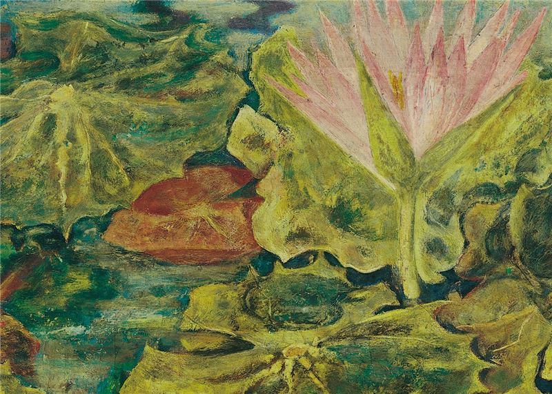 TATEISHI Tetuomi〈The Water Lily Pond with the Reflection of the Sun〉Detail