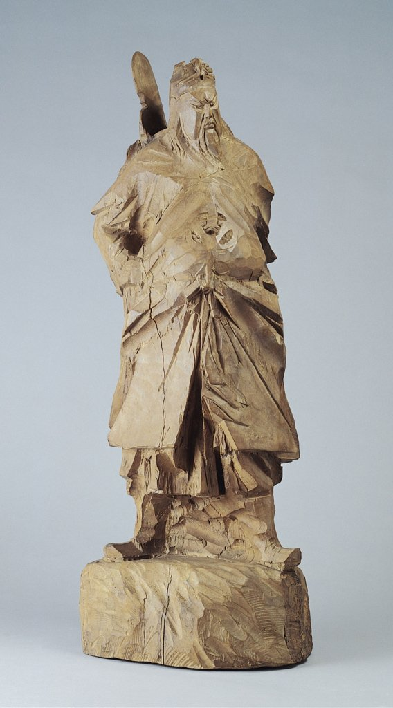 Ju Ming〈A Wood Sculpture of Lord Guan〉1973 Wood carving 30.5×22.2×80 cm