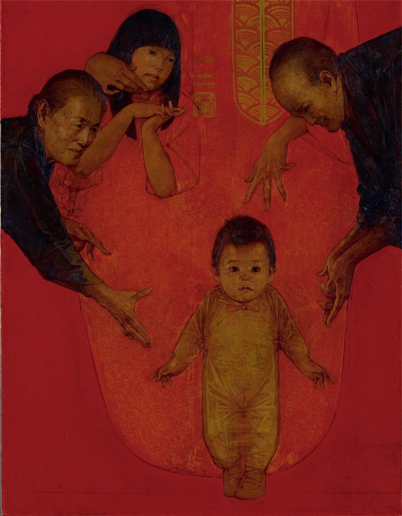 HUANG Ming-je〈Happy New Year〉Detail