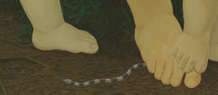 LIN Ju〈St. Mother and Child〉Detail