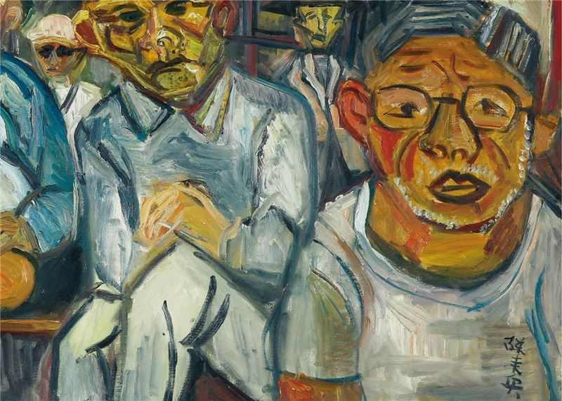 CHEN Lai-hsin〈Old Men at Tianhou Temple〉Detail