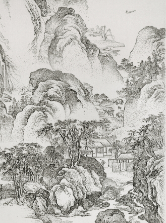 CHEN Chun-Hao〈Imitating Autumn Colors of the Eastern Fence after Li Hsiang, Song Dynasty, Late 14th Century〉Detail