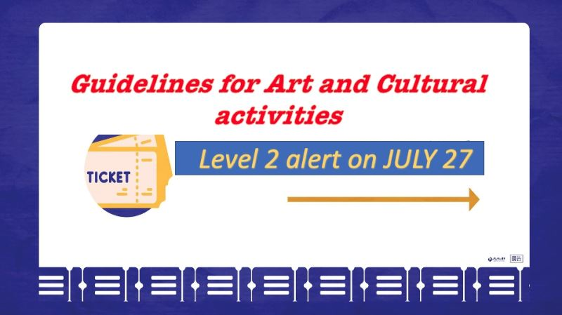 Ministry of Culture announces Level 2 alert guidelines