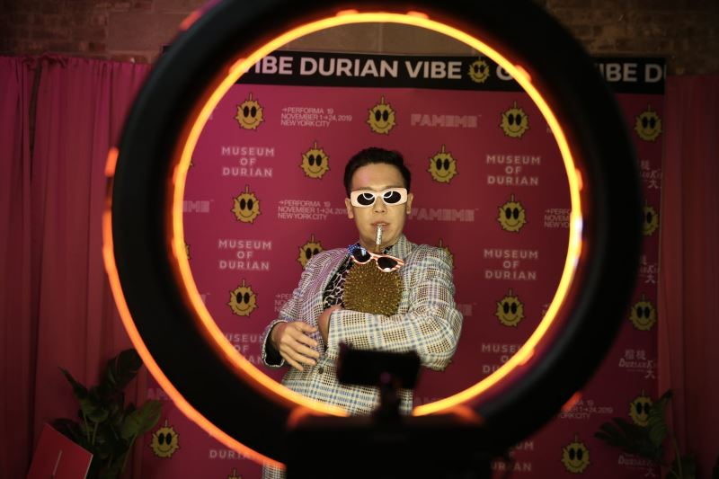 Taiwanese durian act lights up Times Square