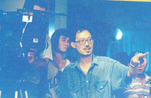 Taiwanese sound artist Wang Fu-jui (left) and his associate Lu Yi-yi.
