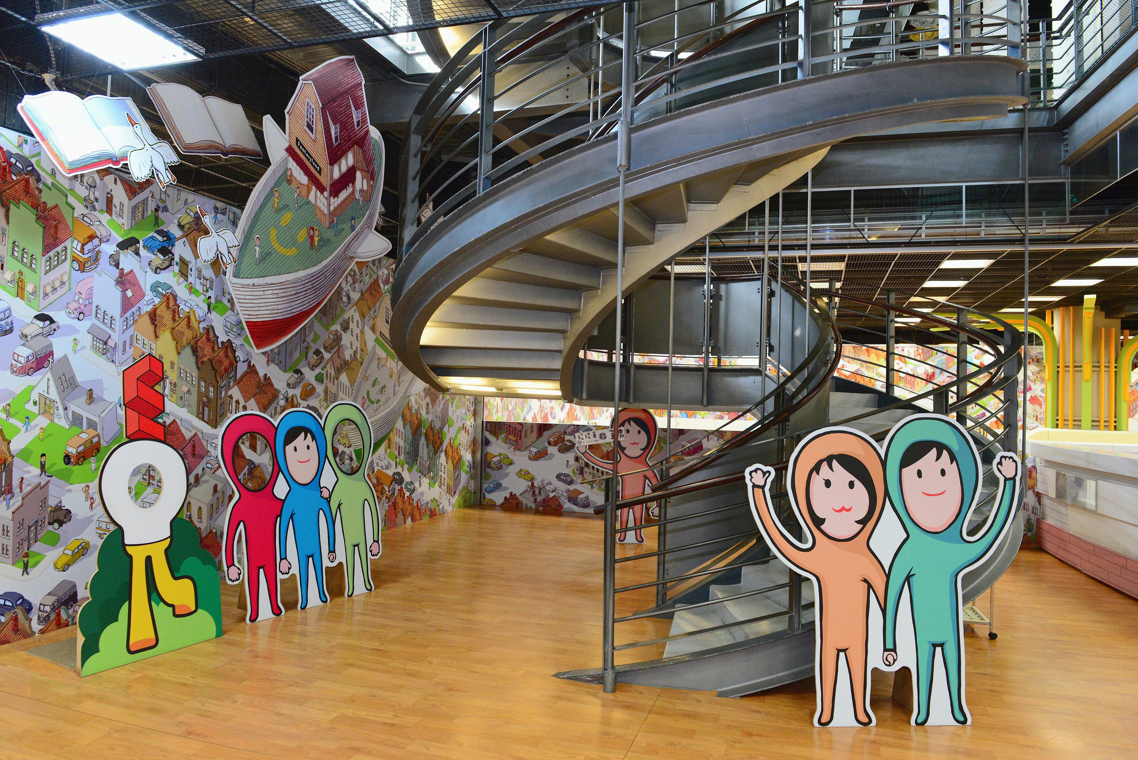 兒童繪本區-碼頭旋轉樓梯