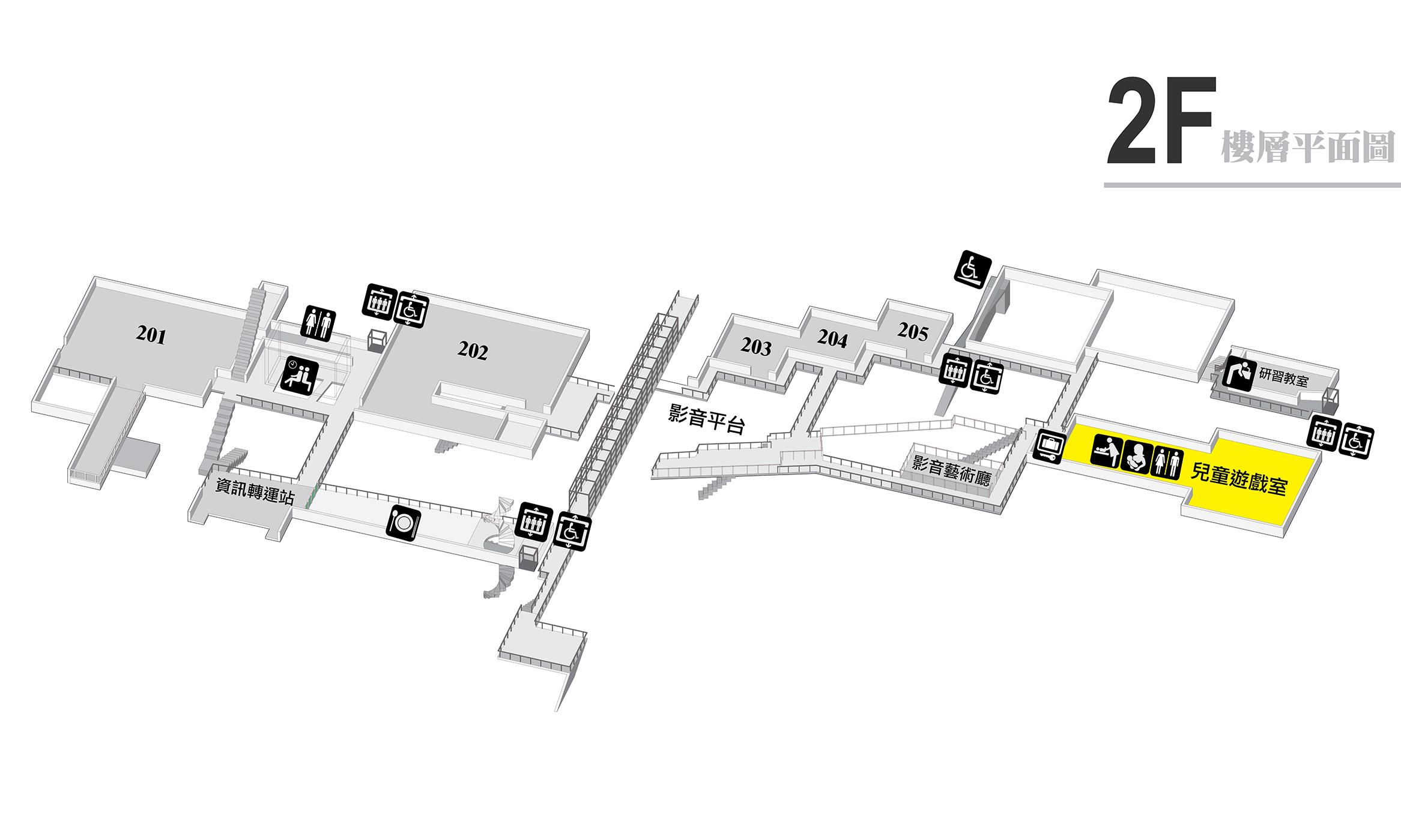 2F空間配置圖