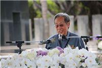 1950年代政治受難者前輩蔡焜霖先生在解嚴三十周年紀念會致詞。