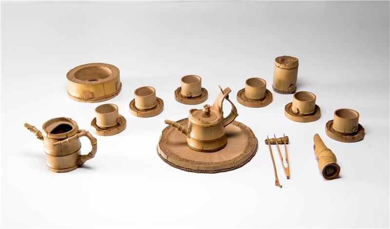 竹壺(祝福)手捏茶具組