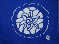 型染-百合花版型設計-塊面