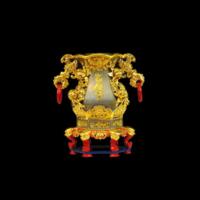 六角雙耳短花瓶