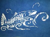 型染-櫻花鉤吻鮭版型設計-綜合技法