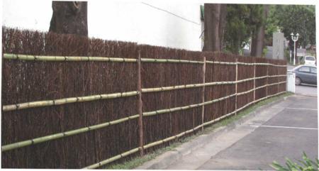 側枝直排籬(竹細梢籬)
