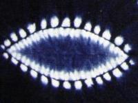 縫紮染-鳳眼紋