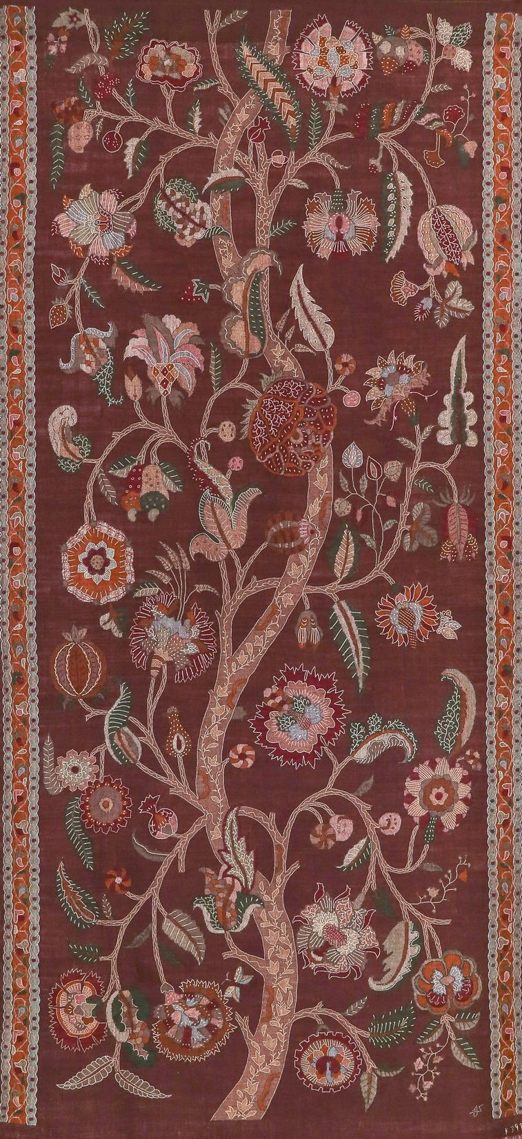 08 印度喀什米爾傳統羊絨織品(Contemporary collection, cashmere Panel, INDIA)