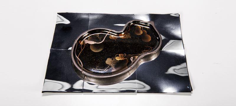 蒔絵盆-六瓢