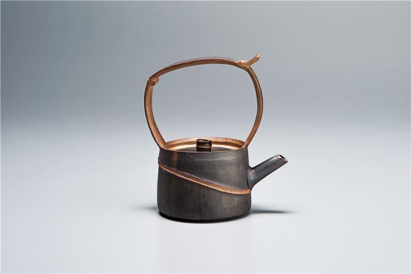 墨黑竹提樑壺