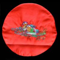 鴛鴦鏡台布