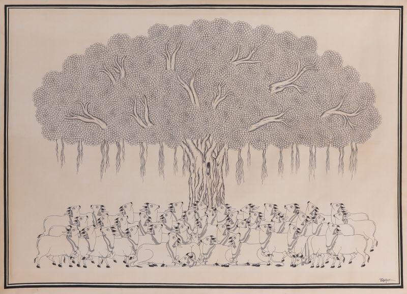 03 印度帕德畫派生命之樹(Phad painting,INDIA)