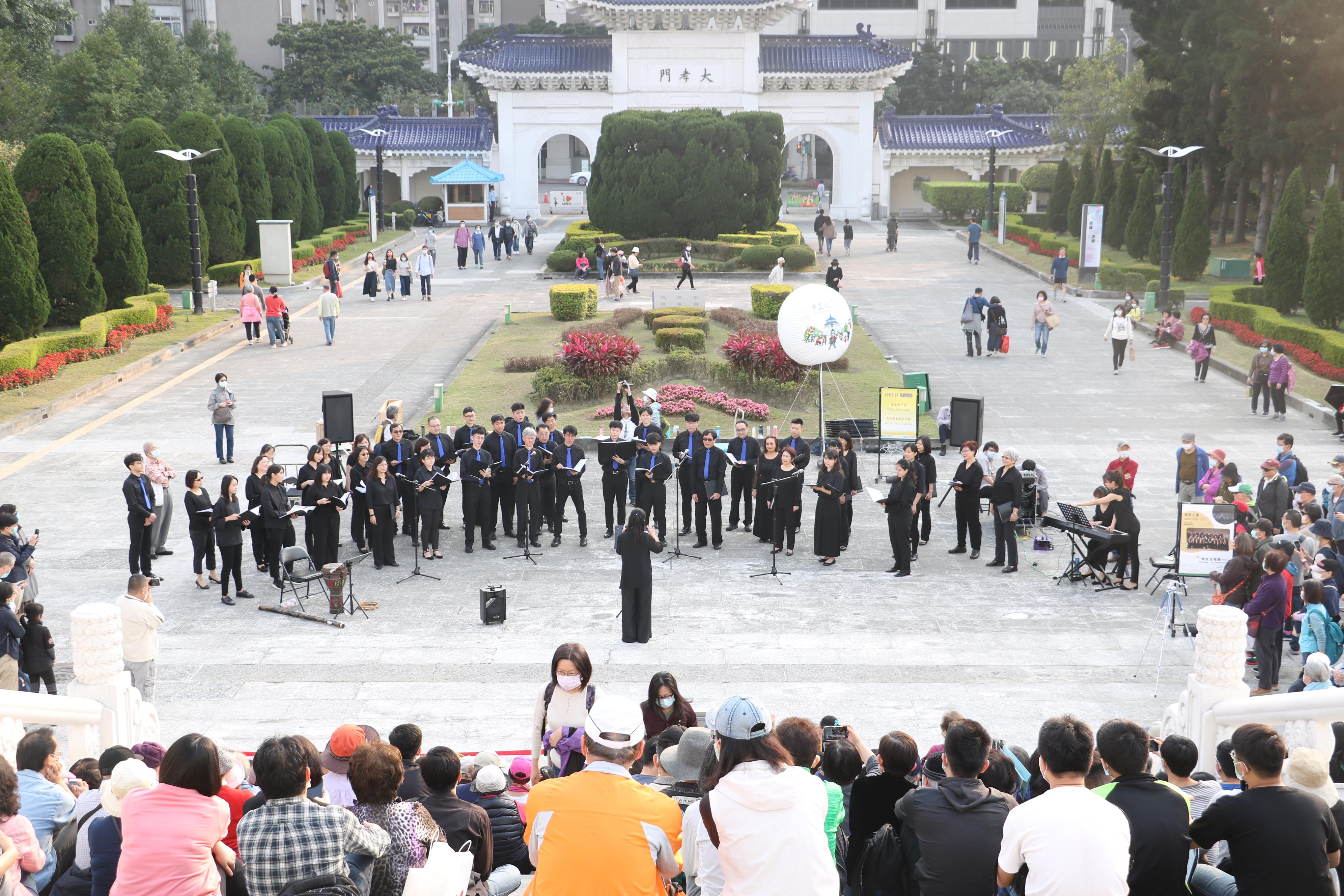 20210206大孝門廣場藝文表演-師友合唱團