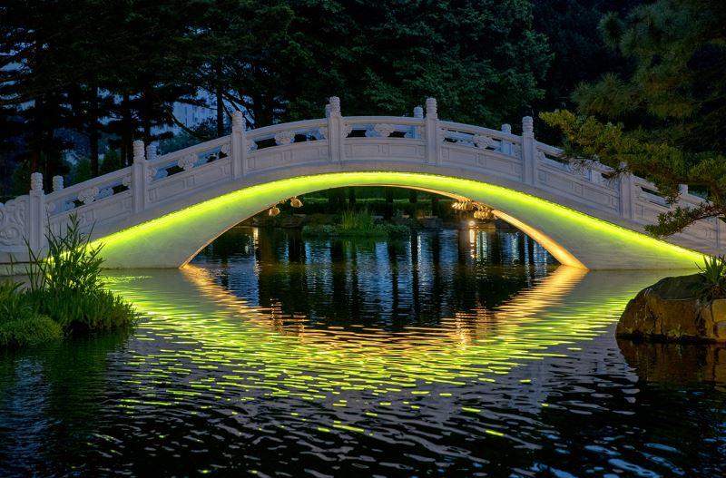 20190516拱橋燈光夜景(黃綠光)