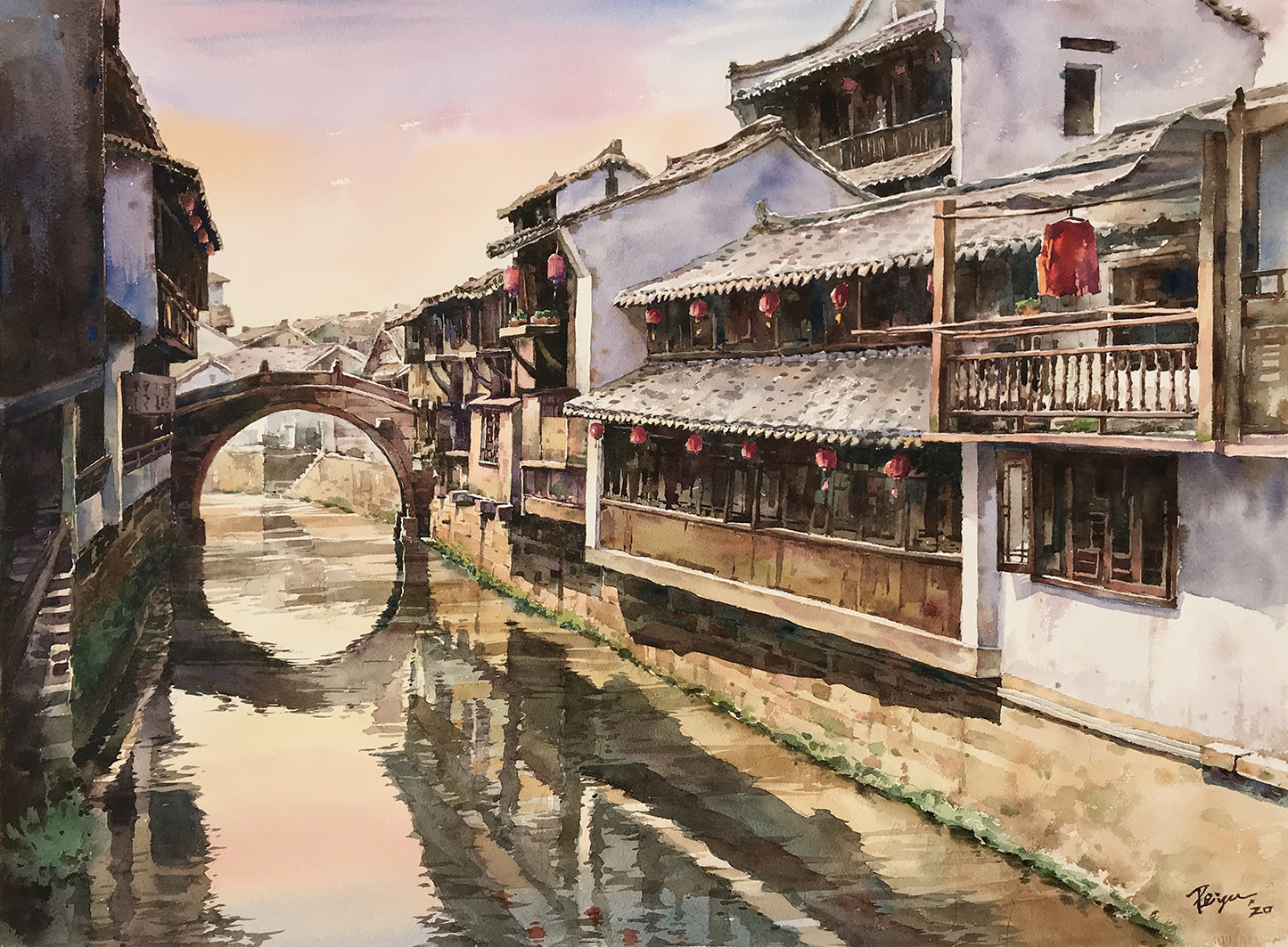 20200501-20200512 Going with the Flow—Life on the Water in Watercolors by Tseng Pei-yu