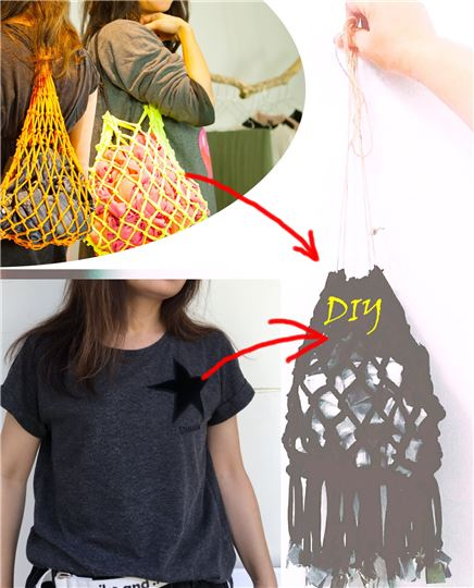 DIY體驗/舊T編織網袋