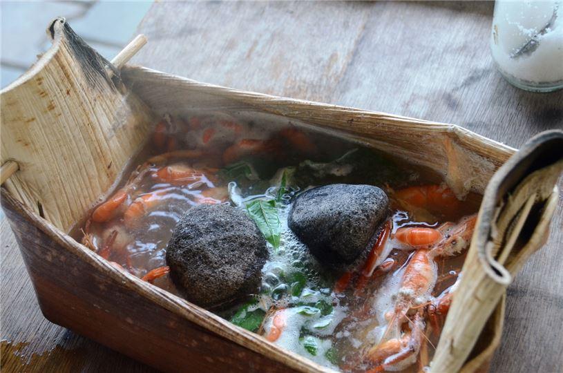 新食器時代:檳榔鞘環保容器?。。êJ識野菜、石頭火鍋品嚐)