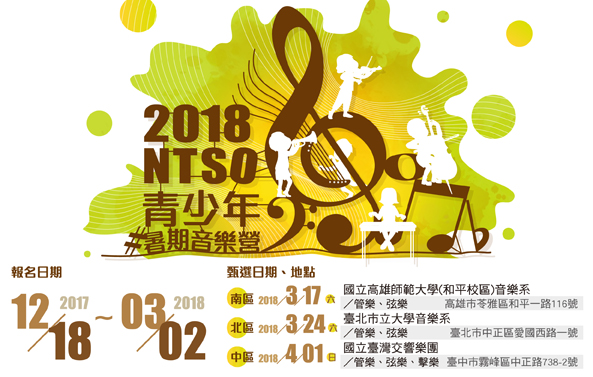 2018 NTSO青少年管樂營甄選