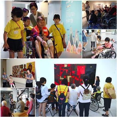 輪椅與博物館椅 為行動不便者推出暢遊國美館的無障礙行程