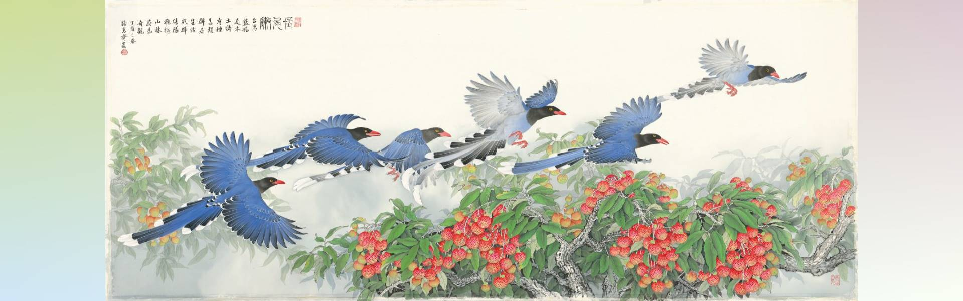 Beautiful Scene—Chang Ke-chi 70-year-old Elabrate Bird-and-Flower Exhibition「open a new window」