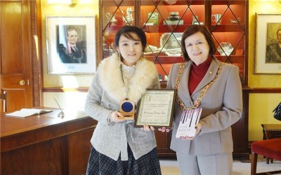 TAIWANESE NOVELIST RECEIVES IRISH AWARD