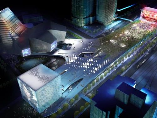 CONSTRUCTION OF THE TAIPEI POP MUSIC CENTER BEGINS