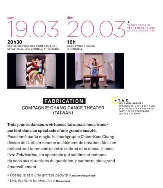 Chang Dance Theater to stage 'Fabrication'