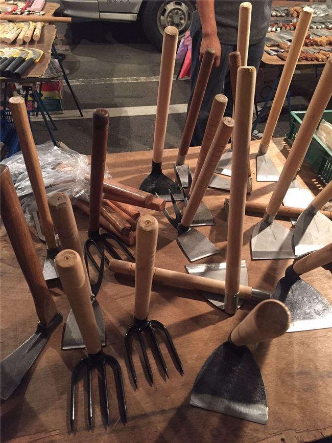 傳統金屬農具在岡山籃籗會是主角。