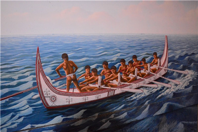Warriors Going Out to Sea to Fish