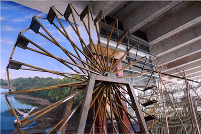 Water Wheels, Bamboo Water Pipes