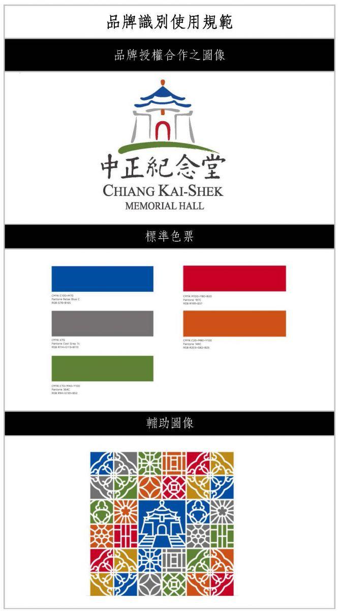 品牌形象識別使用規範-品牌授權合作之圖像、標準色票及輔助圖像。