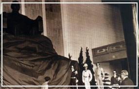 第一任本館指導委員會主任委員孫故院長哲生先生主持 國父銅像揭幕儀式(61.5.16)