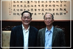 The curator of the Sun Yat-sen Museum in Ipoh, Malaysia, Zhang Ying-jie, visited the Hall and held an interchange forum. Director-General Lin Guo-zhang received him personally.