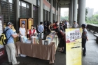 "The book sharing activity ""Celebrating with the Hall by Reading Books"" was held in the west corridor of the Hall, where a total of 936 books, including publications, journals, and magazines regarding Sunology and art were given away."